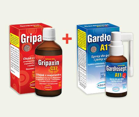 pakiet na wiosne gardlosept + gripaxin